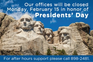 President's Day Closure Notice 2013 (Home page)
