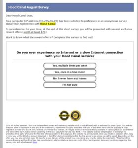online survey scam