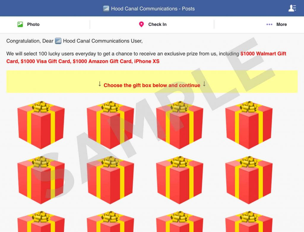 An Important Message About Fraudulent Contests and Prize